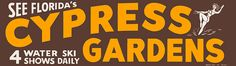 Vintage Florida Cypress Gardens Bumper Sticker - 1960s by JasonLiebig, via Flickr