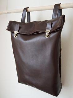 df24565ddad8 Leather Backpack Leather rucksack Women Tote Bag Brown by byNizzo Men Bags