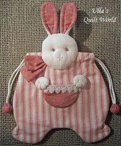 Edredón Mundial de Ulla: bolsa acolchada conejo, patchwork japonés