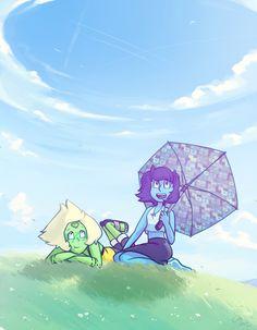 Lapis and peridot. Steven universe
