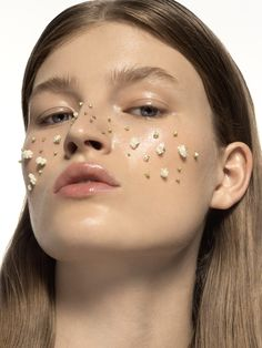 Material Girl magazine Photo - AD : Antoine and Charlie Make up / Hair : Kate Mur Model : Molly Smith @ Next #minimalist #cool #beauty #makeup #faces #graphic #rpure #fashion #editorial #spring #hair #flower #editorial #materialgirlmagazine #shinnyhair