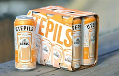 FRANK designed the packaging for Gran's summer beer, Uteplis. Using yellow to represent hot sunny days, FRANK developed a unique and playful design for the Norwegian beer.