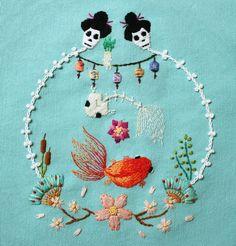 "irisnectar: "" Embroidery by İrem Yazıcı (Baobap Handmade) """