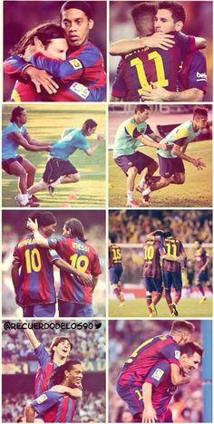 Ronaldinho, Messi y Neymar Messi Neymar Suarez, Cr7 Vs Messi, Messi Soccer, Neymar Jr, Messi 2015, Football Love, Football Memes, World Football, Soccer World