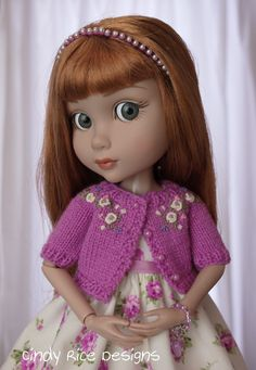 """""""Passion for Purple Roses"""", a handmade ensemble for Wilde Imagination's Patience dolls.  cindyricedesigns.com"""