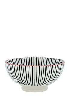 Large Black/White Stripe Kiri Bowl