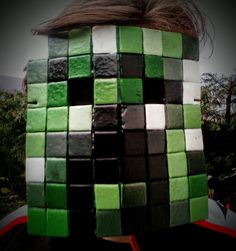 Creeper mask from Minecraft at www.facebook.com/happyhappyprops