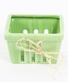 This adorable basket resembles the disposable ones at the supermarket, except it's made from quality ceramic for a darling addition to the dining table. Fill it with fresh fruit and enjoy.