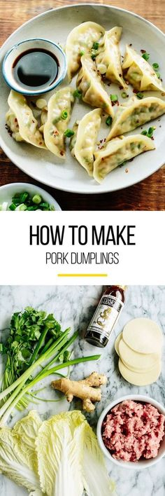 This handy recipe is for how to make pork dumplings. We make this pork dumpling recipe easy as there is plenty of room f Pork Recipes, Asian Recipes, Cooking Recipes, Asian Desserts, Good Food, Yummy Food, Tasty, Dumpling Recipe, Gyoza Recipe Pork