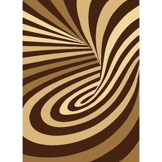 Psychedelic Starlite Turkish Brown Area Rug