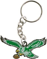 Philadelphia Eagles Acrylic Glitter Freeform Keychain - Pink