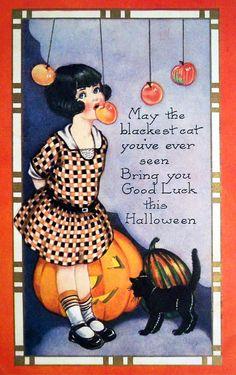 Retro Halloween, Halloween Tags, Halloween Apples, Fröhliches Halloween, Image Halloween, Vintage Halloween Images, Vintage Holiday, Holidays Halloween, Halloween Decorations