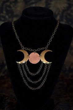 Sisters of the Moon Triple Goddess Necklace by VioletSerpentine