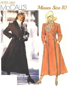 80s MISSES and PETITE'S COAT  Lined Fitted by KeepsakesStudio, $5.99