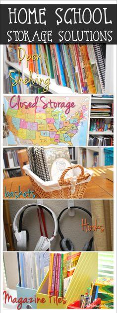 Homeschool Storage Solutions http://familystyleschooling.com/2015/07/30/homeschool-storage-solutions/