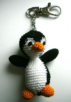 Porte-clefs pingouin au crochet