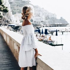 Summer Time For Off Shoulder Dresses Ideas 1 Mode Outfits, Fashion Outfits, Fashion Clothes, Fashion Trends, Off Shoulder Dresses, Looks Chic, Hippie Chic, The Dress, Spring Summer Fashion