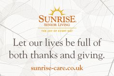 Let our lives be full of both thanks and giving Best Inspirational Quotes, New Quotes, Sunrise Quotes, Senior Living, Our Life, Knowing You, Thanksgiving, Thankful, Joy
