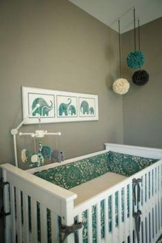 ...Olifant... is zo'n leuk thema voor een babykamer .....ga naar de bron voor meer ideeen ...Echt leuk!!