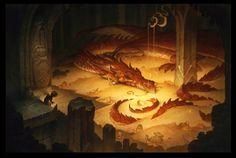 bilbo-baggins-in-smaugs-lair-fan-art.jpg (1260×848)