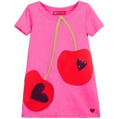 Pink, Red & Green Cherry Appliqué Dress, Agatha Ruiz de la Prada, Girl