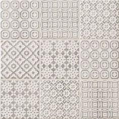 Batik Patchwork Grey tile - Topps Tiles per loveliest tiles I have bought, look fab with cream kitchen! Kitchen Wall Tiles, Bathroom Floor Tiles, Kitchen Flooring, Tile Floor, Morrocan Floor Tiles, Bathroom Grey, Room Tiles, Moroccan Tiles, Kitchen Backsplash