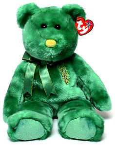 Wattlie, Ty Beanie Buddy bear reference information and photograph. Beanie Babies Value, Rare Beanie Babies, Original Beanie Babies, Ty Stuffed Animals, Ty Bears, Beanie Baby Bears, Ty Babies, Beanie Buddies, Dog Crafts