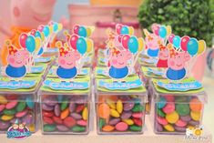 party favors - Peppa Pig themed birthday party via Kara's Party Ideas… Cumple George Pig, Peppa Pig Y George, George Pig Party, Fiestas Peppa Pig, Cumple Peppa Pig, Third Birthday, 2nd Birthday Parties, Bolo Da Peppa Pig, Party Ideas