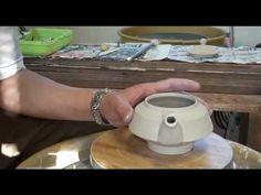 ▶ 92. Throwing / Making a Flat Porcelain Teapot #3 with Hsin-Chuen Lin - YouTube