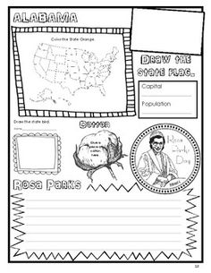 Home School in the Woods: Make-a-State Activity Review