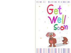 printable get well soon cards - Free Printable Get Well Cards For Kids To Color