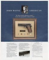 Franklin John Wayne Armed Forces .45 1987 Ad Picture