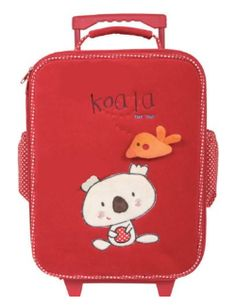 tuc tuc kids koala rolling carry on suitcase