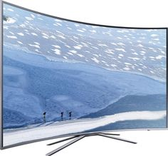 LED-Fernseher 198 cm 78 Zoll Samsung UE78KU6509 EEK A DVB-T2, DVB-C, DVB-S, UHD, Curved, Smart TV, WLAN, CI+ Silber