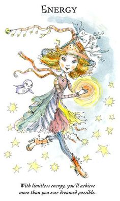 "☆ Witchling: Energy ""With limitless energy, you'll achieve more than you ever dreamed possible."" -::- Artist Paulina Cassidy ☆"