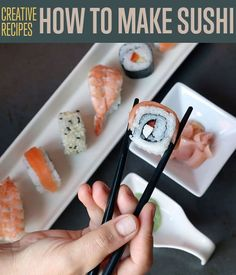 Sushi is an often misunderstood food that is actually quite simple, and can be a lot of fun. Learn how to make sushi with these simple steps. Diy Sushi, Sushi Party, Homemade Sushi, Sushi Sushi, Sushi Rolls, Homemade Food, Sushi Recipes, Seafood Recipes, Cooking Recipes