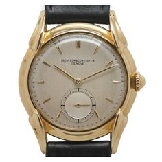 Vacheron & Constantin Yellow Gold Large Dress Wristwatch circa 1950s    $7,750