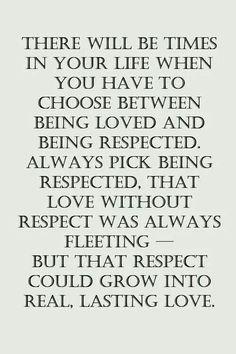 Love Versus Respect