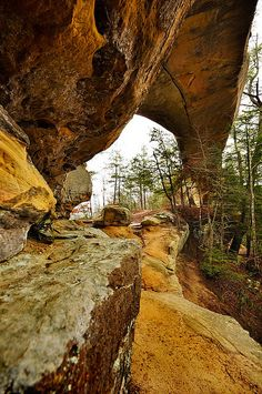 Sky Bridge    Red River Gorge, part of the Danial Boone National Forest in eastern, KY.