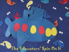 s is for submarine - The Educators' Spin On It: Sink into reading with a printable and Sinking Submarine Activity