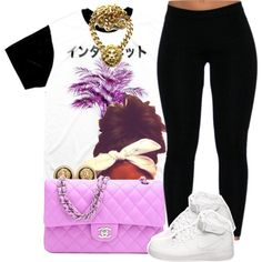 """""""OFTD 05.26.2014 Air Force + Chanel ~ Brianna"""" by vintagetrillbrat on Polyvore"""
