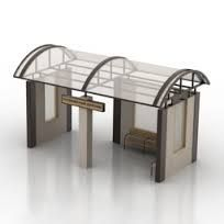 Bus Stop Model available on Turbo Squid, the world's leading provider of digital models for visualization, films, television, and games. Cafe Interior, Interior Design, Bus Stop Design, Bus Shelters, Bathroom Design Layout, Shelter Design, Exhibition Booth Design, Bus Station, Facade House