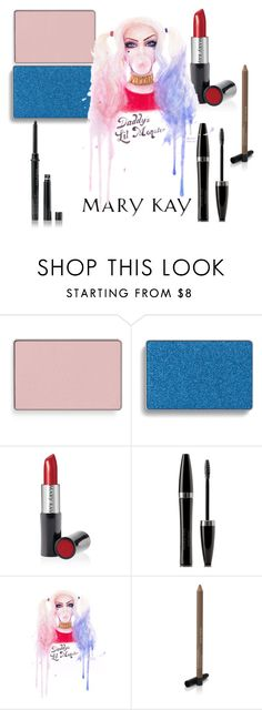 """Harley Quinn Mary Kay color"" by taylormarie213 ❤ liked on Polyvore featuring beauty, Mary Kay, Marykay, cosplay, harleyquinn and SuicideSquad"