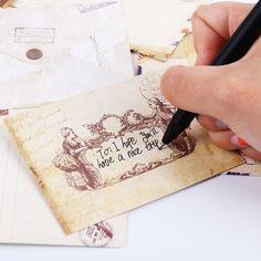 12PCS Fashion Vintage Office Supplies Mini Envelope Postcard Letter Stationary Storage Paper Air Mail #Affiliate