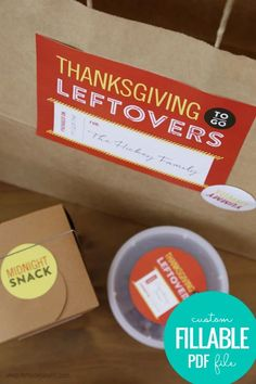 Printable Labels for Thanksgiving Leftovers via shop.remodelaholic.com Thanksgiving printables. Thanksgiving leftovers labels. Thanksgiving leftover printable stickers.