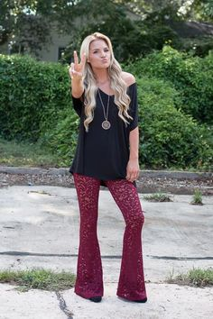 Janis Lace Bell Bottoms