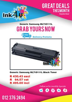 Get your Generic Samsung Black at today and save, Our generic Samsung Black Toner is Guaranteed Quality.