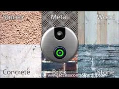 SkyBell is a Wi-Fi video doorbell that let's you see, hear and speak to visitors… Best Security Cameras, Concrete Bricks, Home Tech, Brick And Stone, Mobile Accessories, Home Automation, Smart Home, Digital, Doorbells