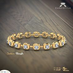 The Love Affair of Brazen Gold and Quirky #Diamonds! Shop now. #bangles…