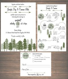 Printable Mountain Weekend Wedding Invitation Kit  by ZSDesign